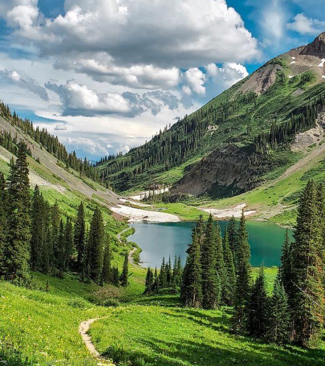 mountains, lake, alpine lake